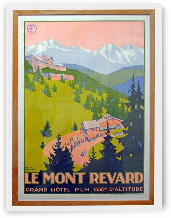 Le Mont Revard original vintage travel poster by VINTAGE POSTER