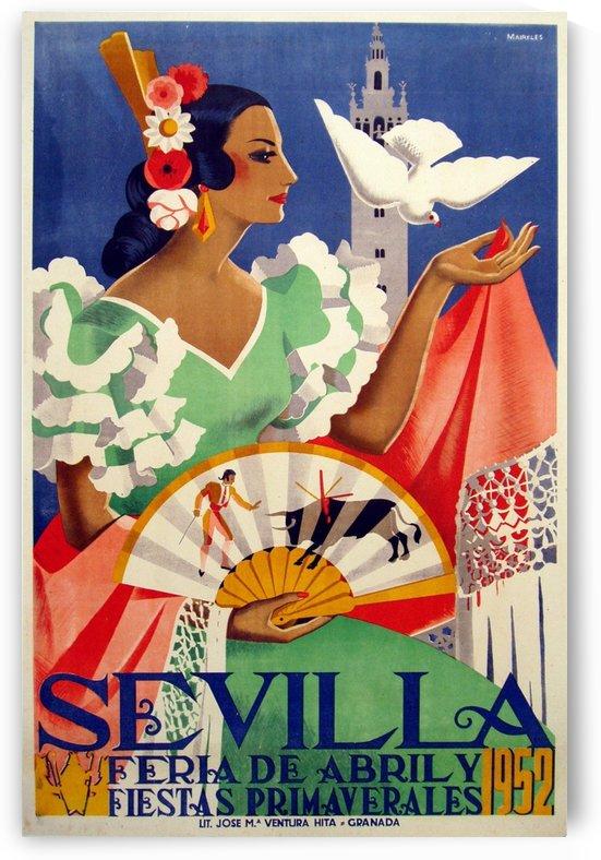 Sevilla vintage travel poster by VINTAGE POSTER