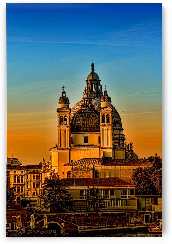 venezia- Basilica of Santa Maria della Salute by tom Prendergast
