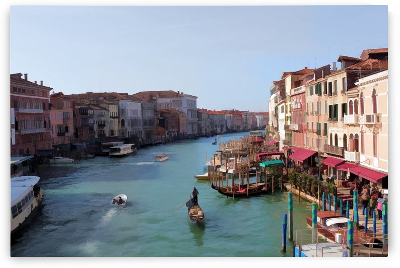 the grand canal venice oil effect tom prendergast by tom Prendergast