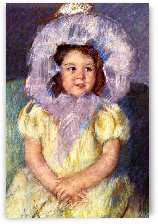 Margo In White by Cassatt by Cassatt