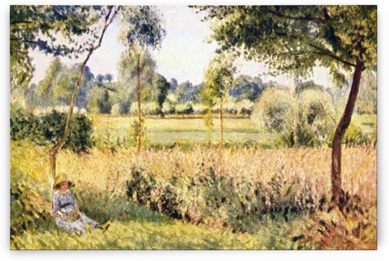 Matin a Eragny by Pissarro by Pissarro