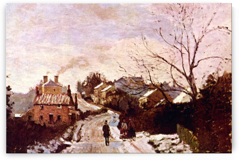Neige a Lower Norwood by Pisarro by Pissarro