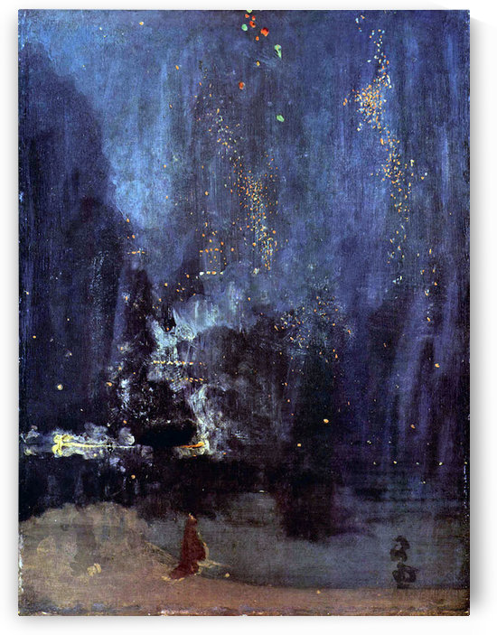 Night in Black and Gold, The falling Rocket by Whistler by Whistler