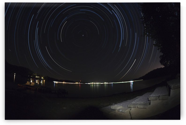 Fourth of July Star Trail by Forrest Blais