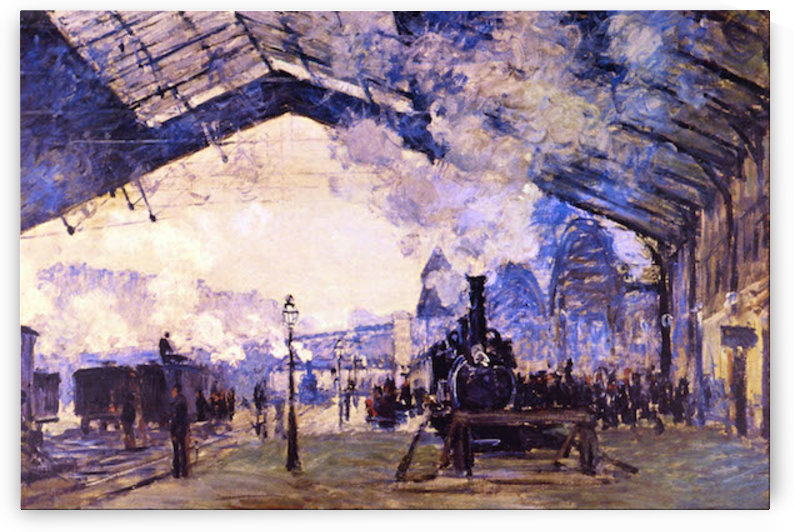 Old St Lazarre Station by Monet by Monet