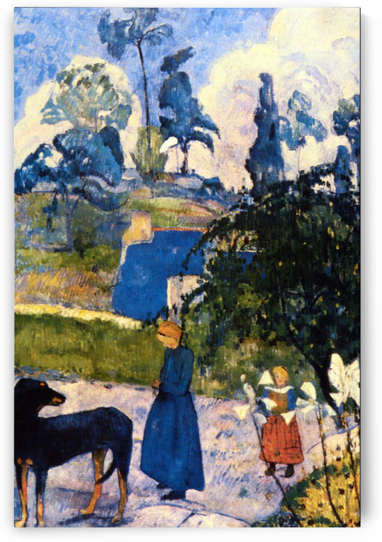 Passage de Bretagne by Gauguin by Gauguin