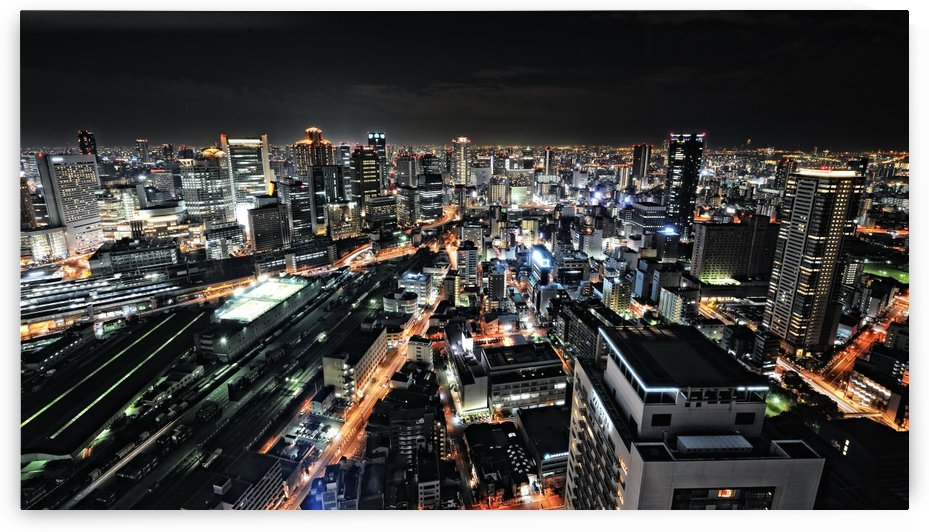 Osaka night view by 1x