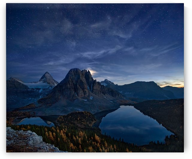 Starry Night at Mount Assiniboine by 1x