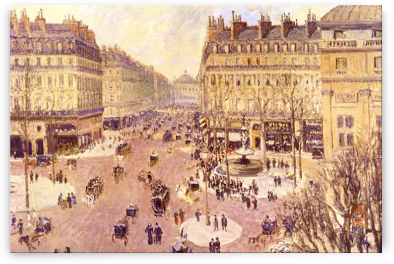 Place du Theatre Francais, Soleil by Pissaro by Pissarro