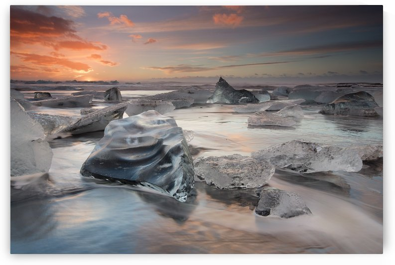 glacial lagoon beach by 1x