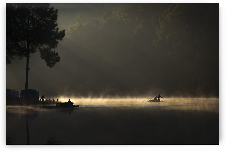 Morning On The Lake by 1x