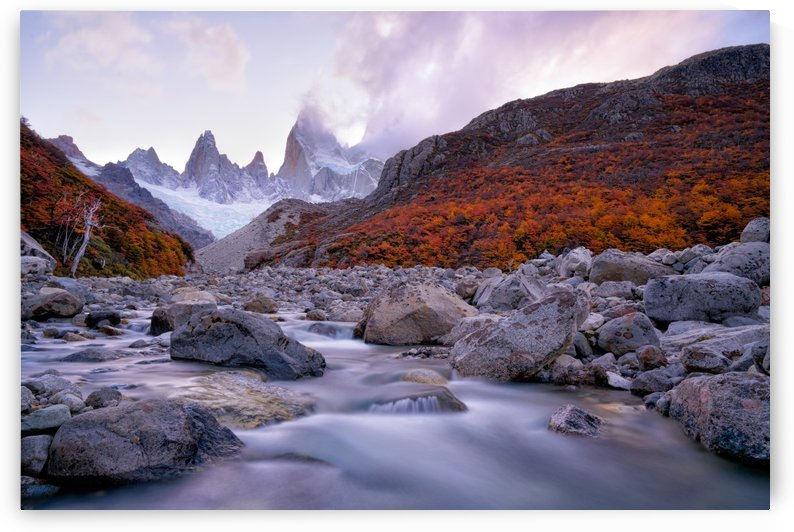 Fitz Roy under Twilight by 1x
