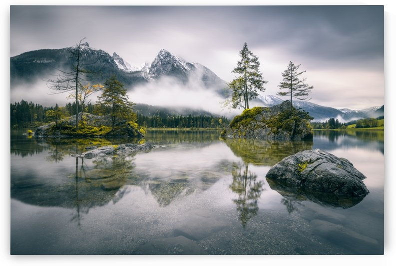 Rainy morning at Hintersee (Bavaria) by 1x