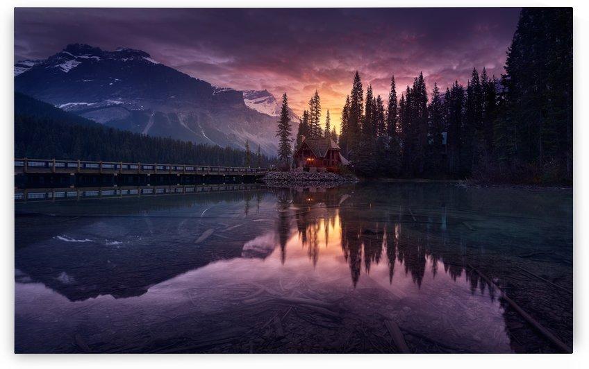 Lake House sunrise by 1x