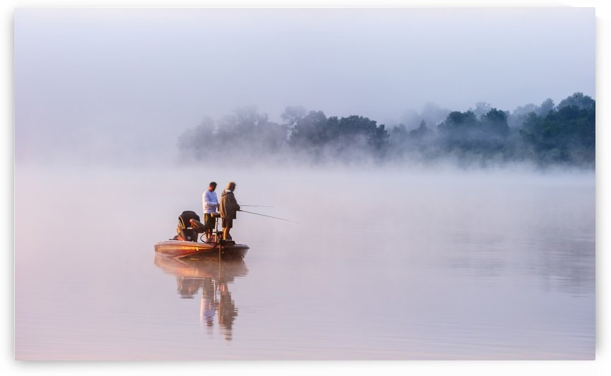 Fishing on Foggy Lake by 1x