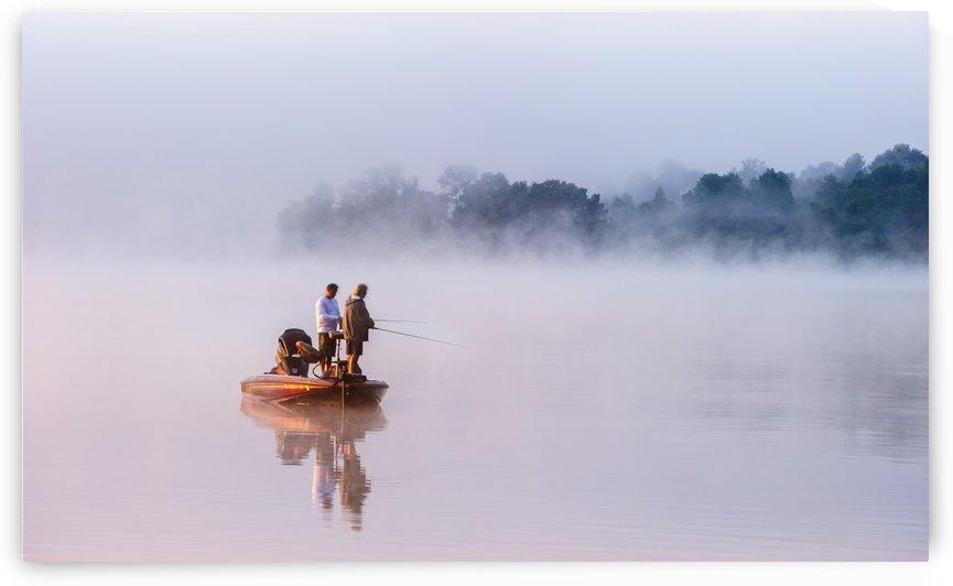 Fishing on Foggy Lake by 1x