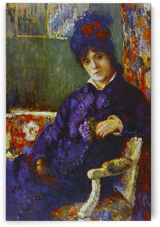Seated Woman by Cassatt by Cassatt