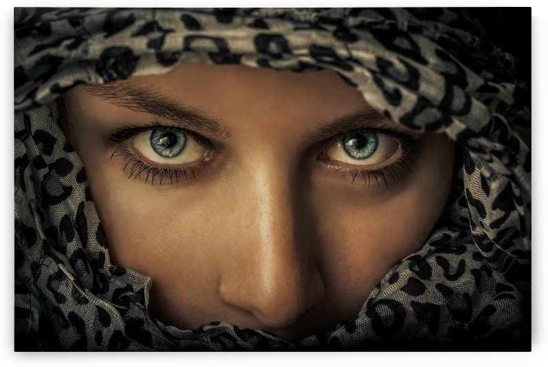 Woman with scarf by 1x
