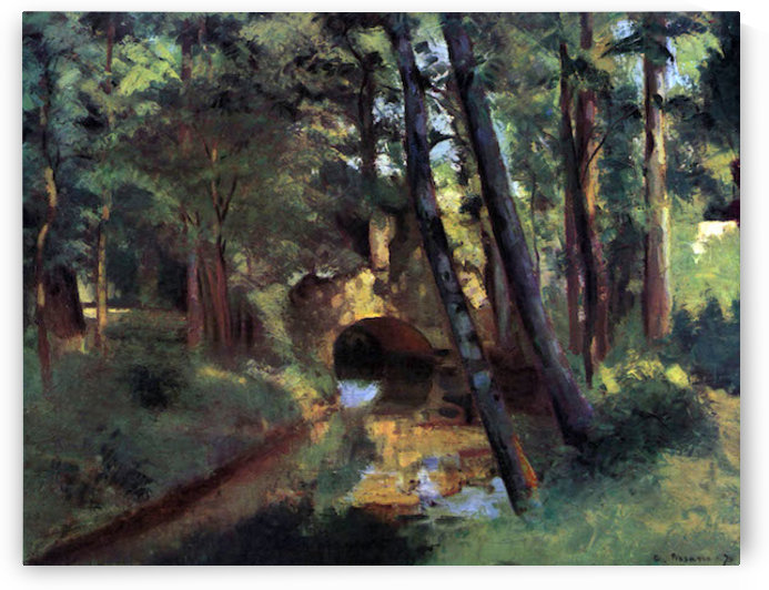 Small bridge of Pontoise by Pissarro by Pissarro