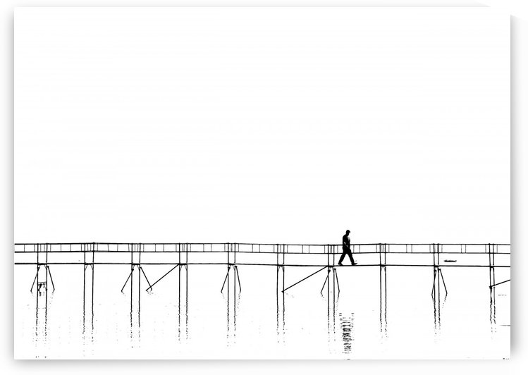 The lonely man on the plank bridge by 1x