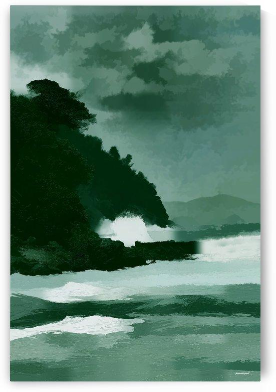 coast line storm oil effect tom prendergast by tom Prendergast