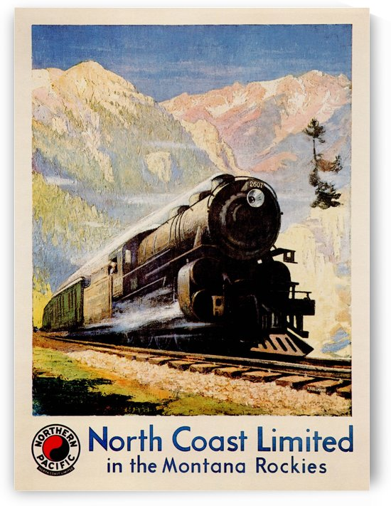 North Coast Limited in the Montana Rockies by VINTAGE POSTER
