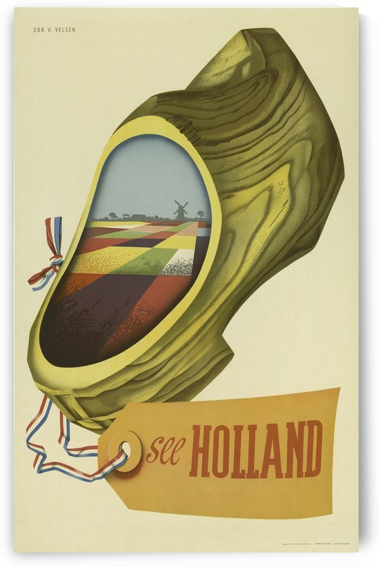 See Holland vintage travel poster by VINTAGE POSTER