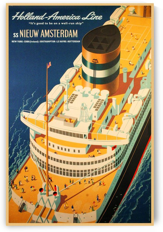 Holland - America Line vintage travel poster by VINTAGE POSTER