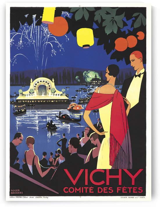 Vichy French Art Deco travel poster by VINTAGE POSTER