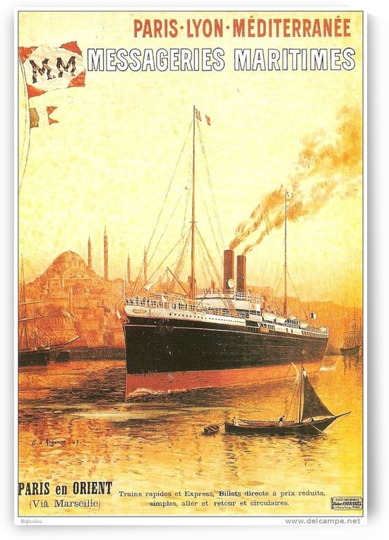 Paris Lyon Mediterranean vintage travel poster by VINTAGE POSTER