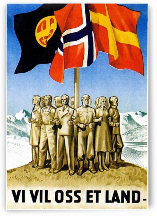 Propaganda Poster der Norwegischen Partei Nasjonal Samling by VINTAGE POSTER