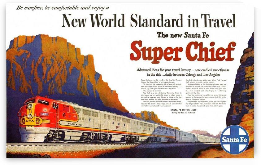 Santa Fe Vintage Railway poster by VINTAGE POSTER