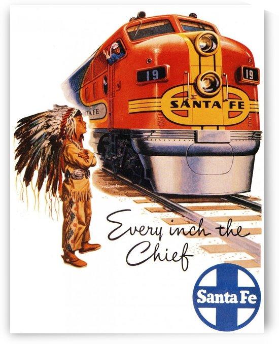 Santa Fe Vintage Railway Poster, 1948 by VINTAGE POSTER