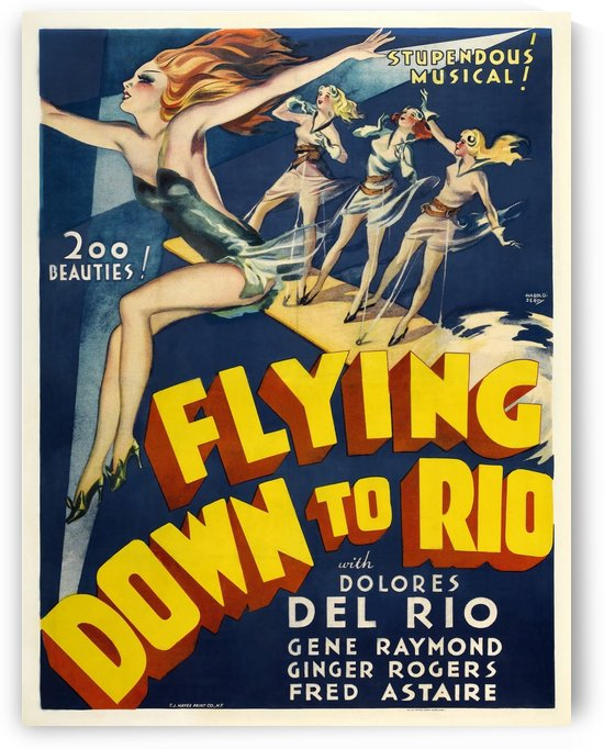Flying Down to Rio Vintage Film Poster, 1933 by VINTAGE POSTER