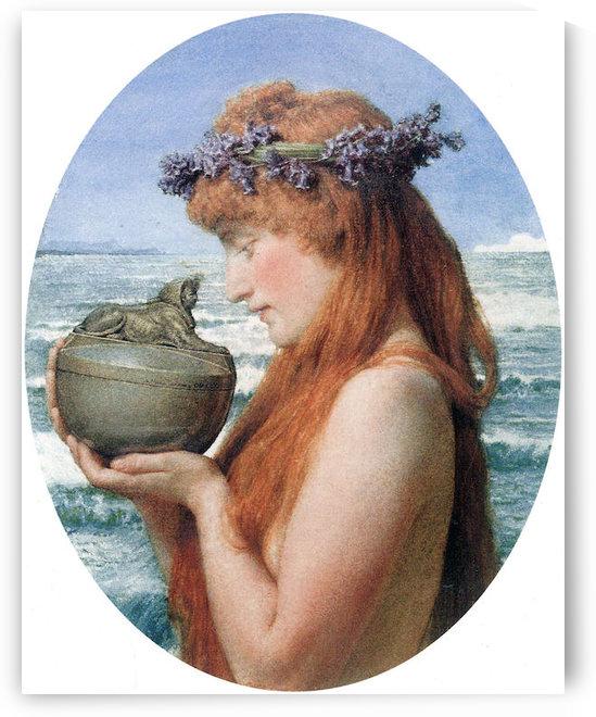 Pandora by Alma-Tadema by Alma-Tadema