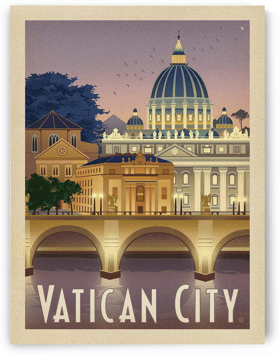 Vatican City vintage poster by VINTAGE POSTER