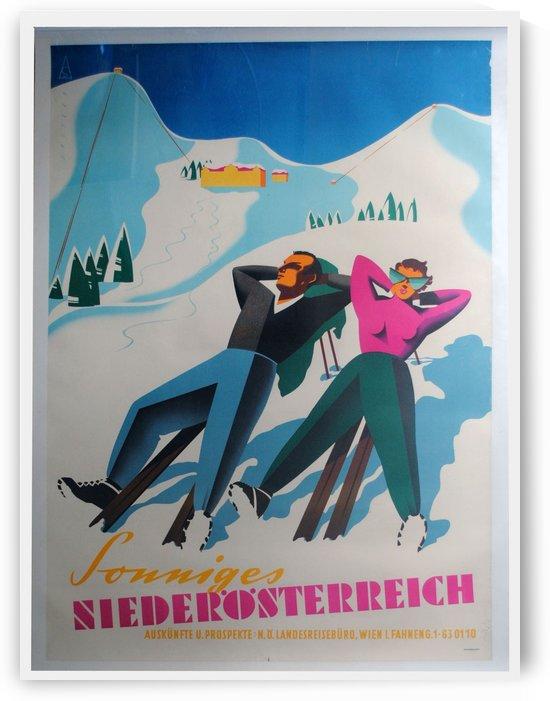 Sonniges Niederosterreich original ski poster by VINTAGE POSTER