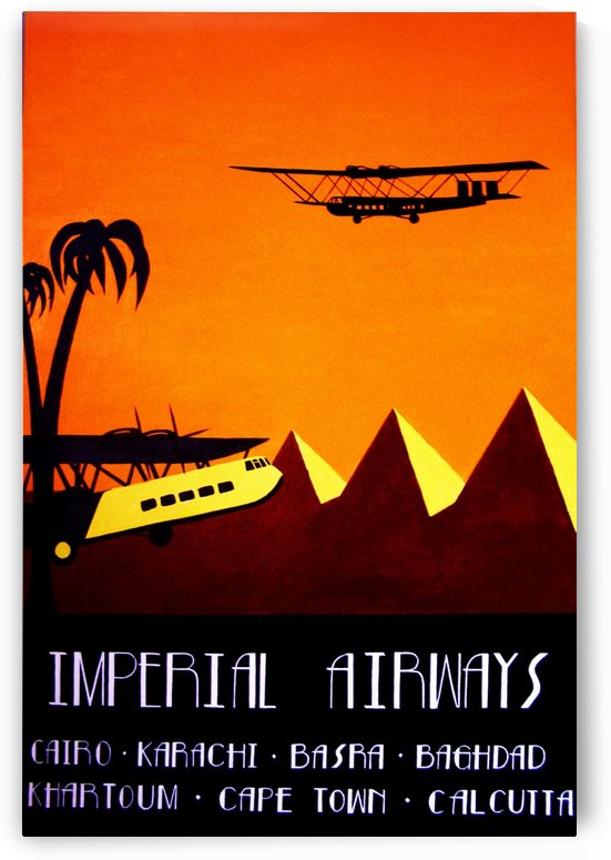 Imperial Airways vintage travel poster by VINTAGE POSTER