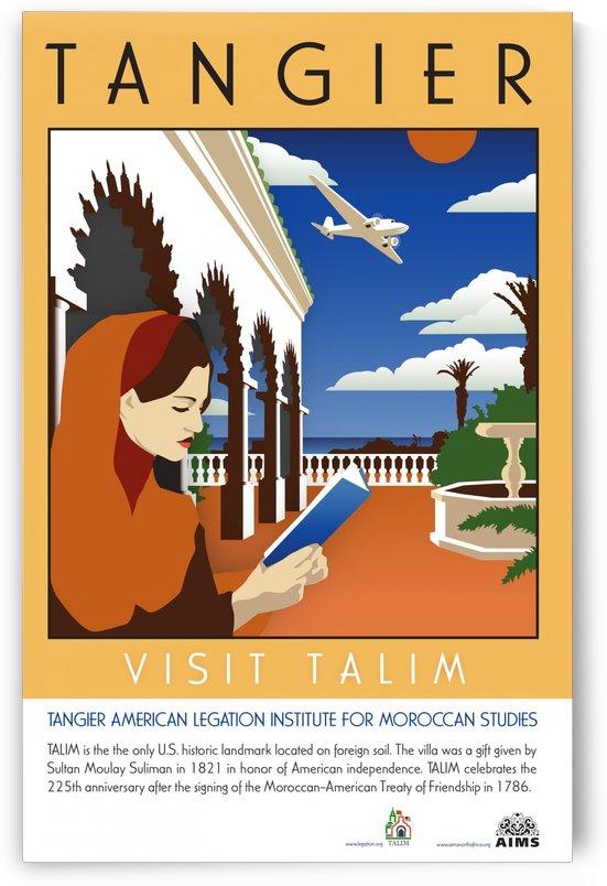 Visit Talim Tangier vintage poster by VINTAGE POSTER