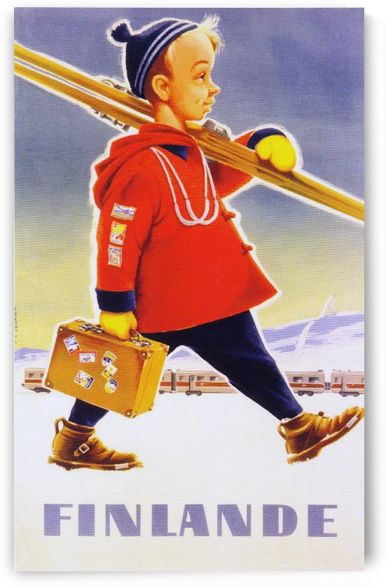 Finlande vintage travel poster by VINTAGE POSTER