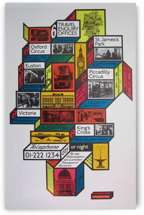 London Travel Enquiry Offices by VINTAGE POSTER
