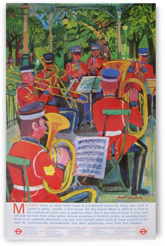 London Underground Bands in the park poster by VINTAGE POSTER