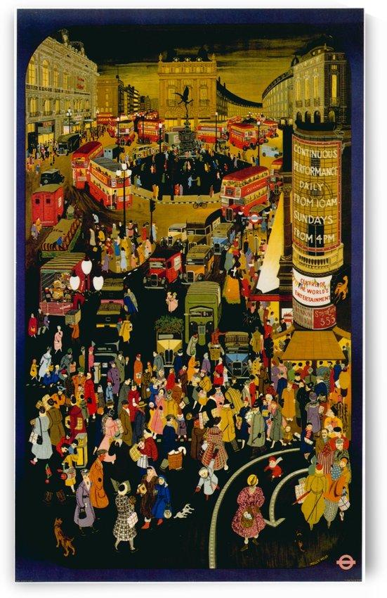 London metro undergroud poster by VINTAGE POSTER