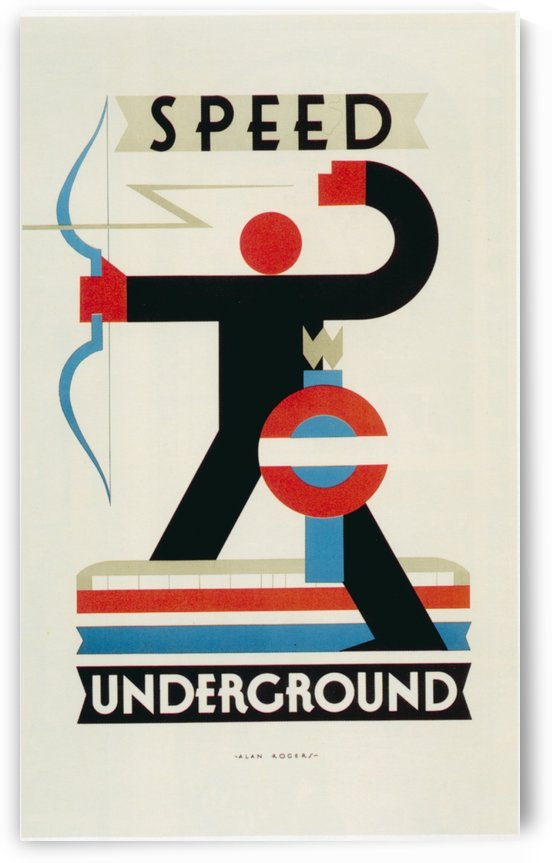 London Speed Underground poster by VINTAGE POSTER