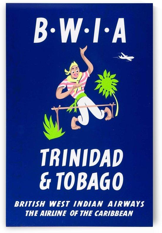 BWIA Trinidad Tobago original travel poster by VINTAGE POSTER