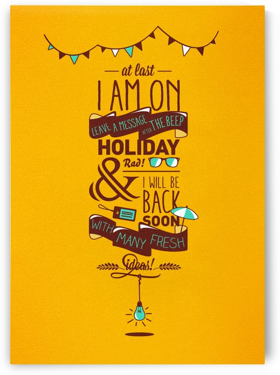 I am on Holiday by VINTAGE POSTER