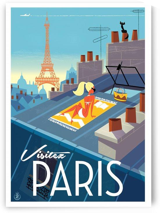 Visitez Paris vintage poster by VINTAGE POSTER