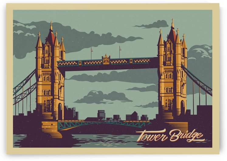 London Tower Bridge by VINTAGE POSTER