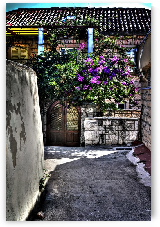 the entrance way corfu grrece tom prendergast by tom Prendergast